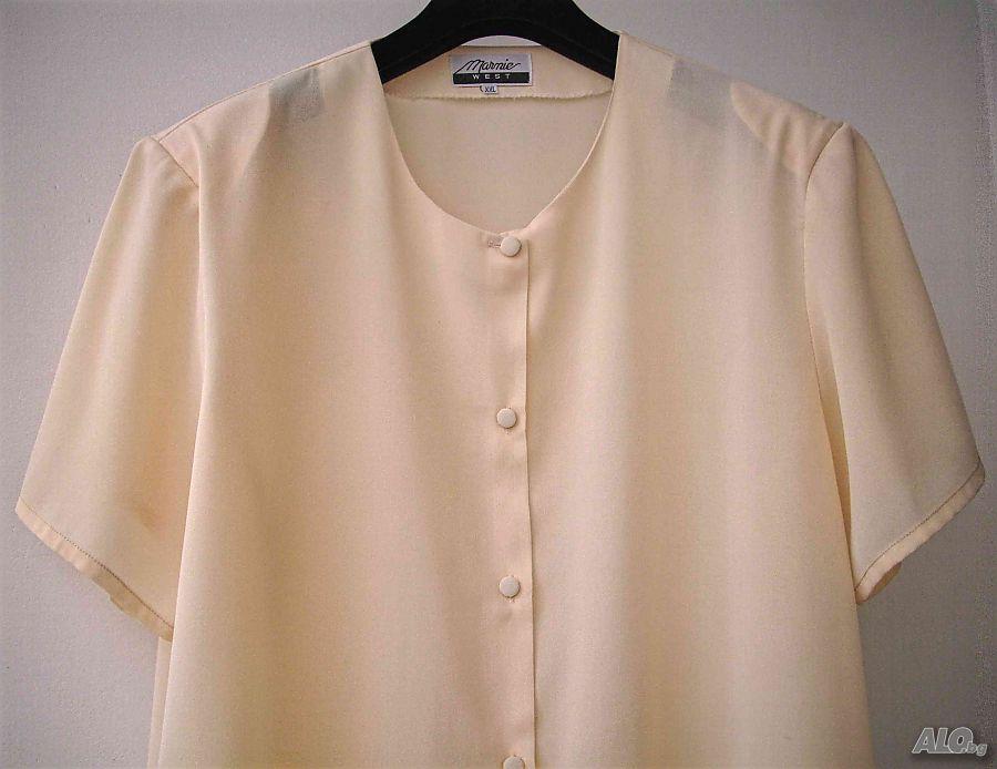 83bc9befd70 Дамска блуза Marnie West къс ръкав риза XXL Блуза Дамска бледо розов ...