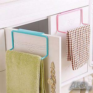 286bc5b7728 ... Закачалка за кърпи за кухненски шкаф органайзер поставка за вратичка |  Аксесоари за дома и градината