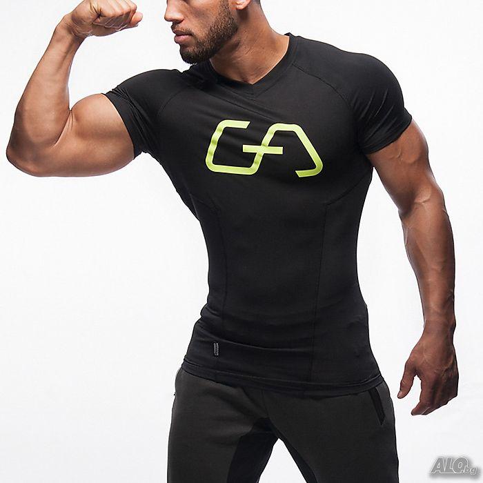 7832310ad37 Мъжки спортни маркови тениски Gym Aesthetics Черна S M L XL XXL ...