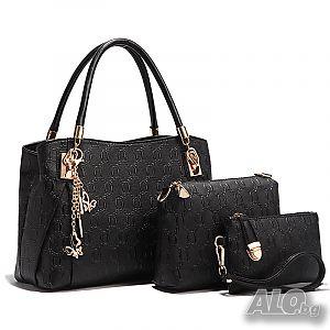 b7c911a44e5 Дамски чанти от Еко кожа - Елегантни Комплекти от няколко части