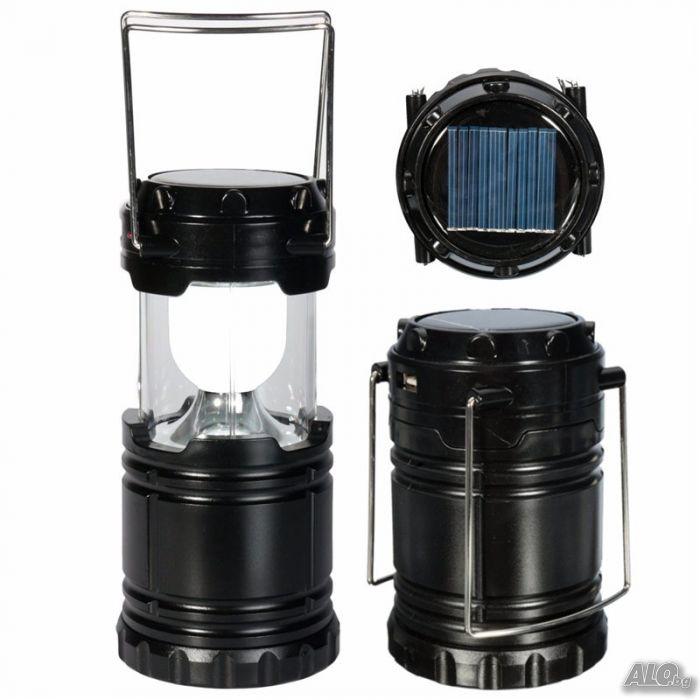 3222358f487 Соларен фенер за дома и излет зарядно за телефон 6 LED диода ...