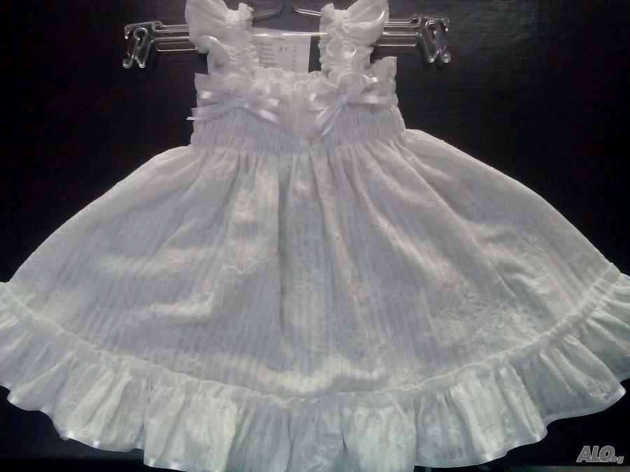 add14045727 детски рокли Рокля Момиченце 18 - 24 месеца (до 92 см) бял | Бебешки ...