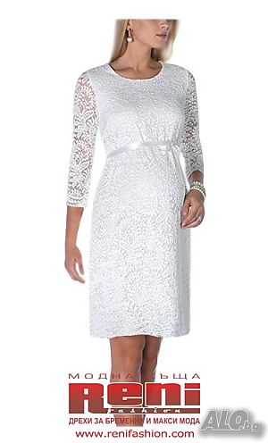 e4660da4dc9 Сватбена рокля за бременни от дантела - модел 0551. Мода ...